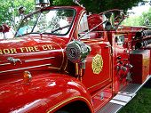 stock photo of fire truck  - A classic fire truck from your childhood - JPG