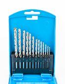 picture of drill bit  - Blue box set of drill bits - JPG