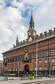 picture of city hall  - Copenhagen City Hall is situated on The City Hall Square in central Copenhagen - JPG