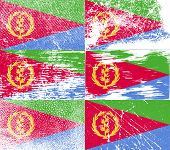 stock photo of eritrea  - Flag of Eritrea with old texture - JPG