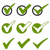 picture of check  - big collection of different green success check marks - JPG