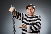 picture of inmate  - Prison inmate in funny concept - JPG