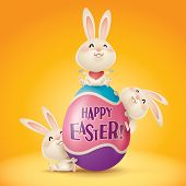 foto of easter eggs bunny  - Happy Easter - JPG