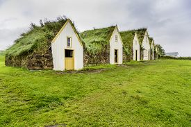 foto of iceland farm  - Traditional Icelandic Turf Houses in West Iceland - JPG