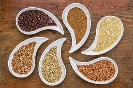 picture of millet  - gluten free grain abstract  - JPG