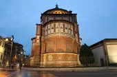 foto of leonardo da vinci  - Beautiful church Santa Maria delle Grazie is the place where can be found famous fresco of Leonardo da Vinci  - JPG