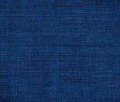 stock photo of midnight  - Dark midnight blue burlap texture or background for design - JPG