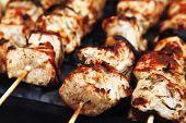 foto of brazier  - healthy shish kebab  - JPG