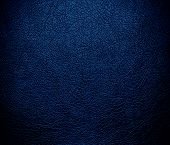 stock photo of midnight  - Dark midnight blue leather texture or background for design - JPG