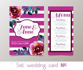 image of hen party  - A set for weddings and bachelorette party invitation - JPG