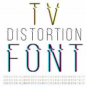 picture of distortion  - Tv distortion thin font - JPG