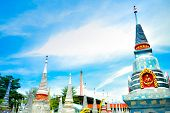 pic of mortuary  - thai mortuary urm with blue sky background - JPG