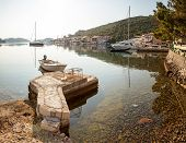 picture of early morning  - Early morning in a small fishing village on island Mljet - JPG