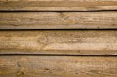 picture of wooden fence  - Old shabby vertical horizontal natural wooden fence - JPG