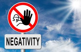 stock photo of think positive  - no pessimism stop negativity think positive stop pessimistic thoughts dont think negative but positive and optimistic thinking makes you happy - JPG