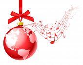 vector christmas carols background