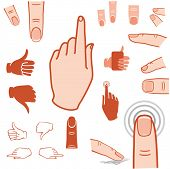 touch screen gesture, pointer, fingers and hands icon