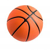 Basketball Ball Over White Background. poster