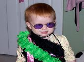 stock photo of sissi  - My baby girl playing dress up with her sissy - JPG