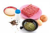 preparing meat balls in domestic kitchen poster