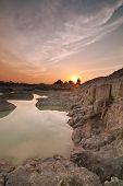 Kaolin lake sunrise