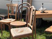 Vintage Wooden Chairs (Flea-Market)