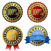 Vector set of 100% guarantee golden labels.