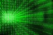 image of encoding  - Abstract binary code 3D vector background - JPG