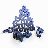 Growth Pyramid With Dropped Letters