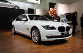 PARIS, FRANCE - OCTOBER 02: Paris Motor Show on October 02, 2008, showing BMW 7-series, front view