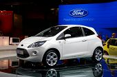 PARIS, FRANCE - OCTOBER 02: Paris Motor Show on October 02, 2008, showing Ford Ka, front view