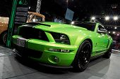 HELSINKI, FINLAND - OCTOBER 3: X-Treme Car Show, showing 2009 Ford Mustang Shelby GT500 on October 3