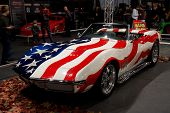 HELSINKI, FINLAND - OCTOBER 3: X-Treme Car Show, showing 1969 Chevrolet Corvette Stingray on October