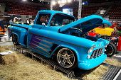 HELSINKI, FINLAND - OCTOBER 3: X-Treme Car Show, showing 1956 Chevrolet Pickup on October 3, 2009 in