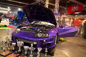 HELSINKI, FINLAND - OCTOBER 3: X-Treme Car Show, showing tuned 1994 Toyota Supra on October 3, 2009