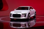 PARIS, FRANCE - SEPTEMBER 30: Paris Motor Show on September 30, 2010, showing Audi quattro concept,