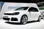 PARIS, FRANCE - SEPTEMBER 30:Volkswagen Golf R at Paris Motor Show on September 30, 2010 in Paris