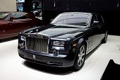 PARIS, FRANCE - SEPTEMBER 30: Paris Motor Show on September 30, 2010 in Paris, showing Rolls Royce P