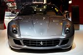 PARIS, FRANCE - SEPTEMBER 30: Paris Motor Show on September 30, 2010 in Paris, showing Ferrari 599 G