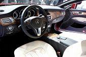 PARIS, FRANCE - SEPTEMBER 30: Paris Motor Show on September 30, 2010 in Paris, showing Mercedes-Benz CLS 350 CDI, interior view