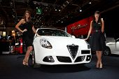 PARIS, FRANCE - SEPTEMBER 30: Alfa Romeo Giulietta at Paris Motor Show on September 30, 2010 in Pari