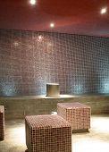diseño de interiores de la sauna