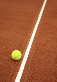 picture of deuce  - tennis ball on the court - JPG