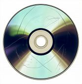 Постер, плакат: Vintage Looking Dust And Scratches On Cd Dvd