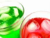 Red And Green Flavored Iced Drinks