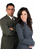 Business team of a woman and a man