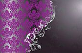 Elegant vintage purple wallpaper with floral detail