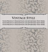 Vintage style wallpaper tag or label template