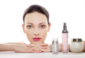stock photo of cosmetic products  - Skincare products - JPG