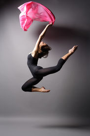 pic of ballet dancer  - stylish and young modern style dancer is posing - JPG